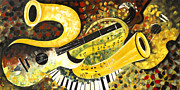 Still Life Photographs Painting Posters - Music Ornaments 5 Poster by Madhav Singh