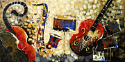 Still Life Photographs Painting Posters - Music Ornaments 6 Poster by Madhav Singh