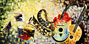 Still Life Photographs Painting Posters - Music Ornaments 7 Poster by Madhav Singh