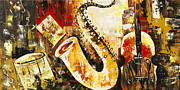 Photographs Painting Originals - Music Ornaments by Madhav Singh