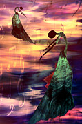 Dance In Water Prints - Music Print by Paul St George