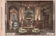 Victorian Buildings Paintings - Music Room of the King of Bavaria 1878 by Ventzke