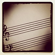 Music Art - Music Sheet by Chris Fabregas