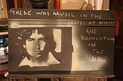 Bob Dylan Mixed Media - Music Stand Of Bob Dylan by S Preston Duncan