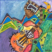 Ink Paintings - Music to My Eyes by Tanielle Childers