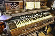 Music Lover Framed Prints - Music - Wooden Pump Organ  Framed Print by Paul Ward