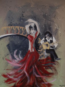 Dance Painting Originals - Musica Espaniol by Kelly Jade King