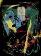 Contemporary Symbolism Prints - Musica Print by Rosalyn Stevenson