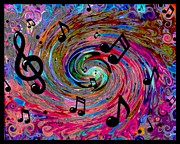 Harmony Painting Posters - Musical Poster by Paintings by Gretzky