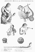 Pan Pipes Prints - Musical Instruments Print by Granger
