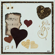 Home Decor Posters Mixed Media Posters - Musical Love Poster by Alison Quine