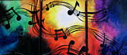 Blend Mixed Media Prints - Musical Note Canvas Print by Sarah Stonehouse