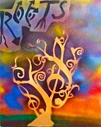 Tree Roots Painting Posters - Musical Roots Poster by Tony B Conscious