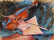 Music Pastels Originals - Musical Thoughts by K M Pawelec