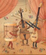 Music Instruments Posters - Musicians Poster by Kestutis Kasparavicius