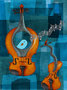 Violin Digital Art Metal Prints - Musiko Metal Print by Aimelle