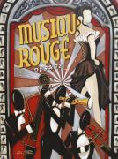Music Theme Paintings - Musique Rouge by Lori McPhee