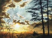 Hanne Lore Koehler Print Paintings - Muskoka Dawn by Hanne Lore Koehler