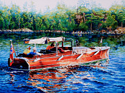 Cruiser Painting Metal Prints - Muskoka Woody Metal Print by Hanne Lore Koehler