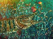 Release Tapestries - Textiles Posters - MUSKY- Chasin Poster by Sue Duda