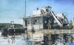 Motor Metal Prints - Mussel Harvest on Penn Cove Metal Print by Perry Woodfin