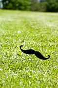Mustache Photo Prints - Mustache on a stick 4 Print by Micah May
