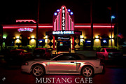Los Angeles Digital Art Metal Prints - Mustang Cafe Metal Print by Tommy Anderson