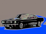 Ford Mustang Mixed Media Framed Prints - Mustang Fastback Framed Print by Rick Thiemke