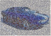 Mosaic Mixed Media - Mustang FORD Mosaic by Paul Van Scott
