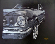 Ford Mustang Paintings - Mustang Front by Richard Le Page