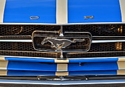 Blue Buick Photos - Mustang Grill by Robert Harmon