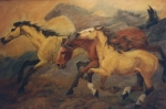 Freedom Paintings - Mustang Herd by JoAnne Corpany