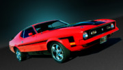 Mach 1 Framed Prints - Mustang Framed Print by Kurt Golgart
