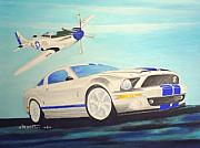 Mustang Aviation Art Paintings - Mustang Mustang by Dennis D Vebert