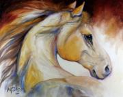 Wild Horse Paintings - Mustang Named Wind by Marcia Baldwin