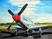 Plane Paintings - Mustang P51 C by Ron Hamilton