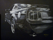 Ford Mustang Painting Framed Prints - Mustang Rear Framed Print by Richard Le Page
