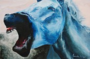 Distraught Painting Prints - Mustang Sally Print by Amanda Funkhouser