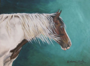 Pinto Paintings - Mustang Sally by Marni Koelln