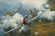 Plane Painting Originals - Mustang Warriors by Colin Parker