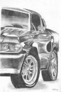Sports Drawings - Mustang by Melisa Meyers