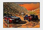Mustang Mixed Media - Mustangs in the hills by John Breen