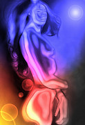 Nude Digital Art - Mutation by moonlight by Stefan Kuhn