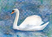 Swans... Mixed Media - Mute Swan by Arline Wagner