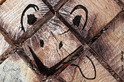 Cheerful Pyrography Posters - Muzzle on stump Poster by Elena Eretina