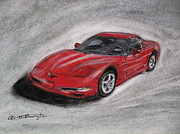 Chevy Pastels - My 2000 Corvette by Annette Battaglia