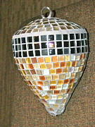 Structure Glass Art - My Acorn by Linda Andrews