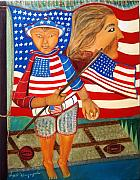 Independance Painting Originals - My America by Angelo Ingargiola