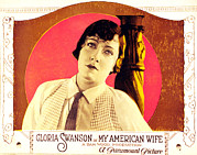 Jbp10ma21 Prints - My American Wife, Gloria Swanson, 1922 Print by Everett