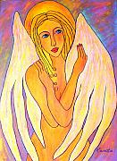 Angel Art Paintings - My Angel..... by Renate Dartois